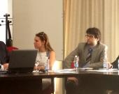 El Prof. Dr. Cortés Bechiarelli durante su ponencia.