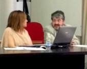 El Prof. Dr. Carbonell Mateu interviene en el debate tras la ponencia de la Prof. Dra. Durán Seco.