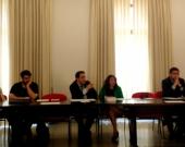 D. David Ruiz Rosillo interviene en el debate tras la ponencia de D.ª Natalia Torres Cadavid.