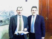 66. Bahía Blanca. Univ. Nacional del Sur, 28 nov.2006: Prof. de Vicente Remesal y decano/director del Dpto. de Derecho.