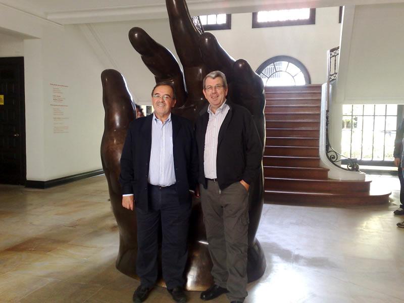 145. Bogotá, 27-9-2010, Museo Botero: Profs.  Luzón, J. de Vicente Remesal.