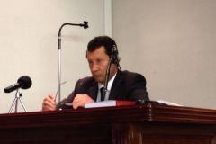 4. Facultad Derecho Univ. León. El Prof. D. Jaime Lombana durante la defensa de su tesis doctoral.