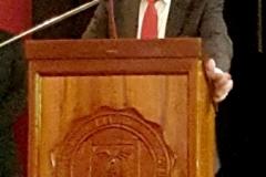El Prof. Dr. Dr. h.c. mult. Díaz y García Conlledo durante su discurso de investidura como Doctor honoris causa.