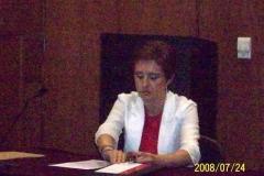 84. Univ. de Vigo, Facultad de CC. Jurídicas, 24 julio 2008 (tarde). Concurso a plaza de Prof. Contratado Doctor, adjudicada a la Prof. Marta García Mosquera: la candidata Prof. García Mosquera.