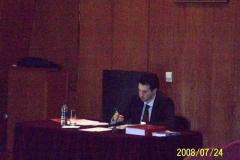 82. Univ. de Vigo, Facultad de CC. Jurídicas, 24 julio 2008 (mañana). Tesis doctoral del prof. Virxilio Rodríguez Vázquez: el doctorando prof. Rodríguez Vázquez