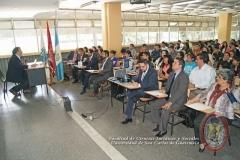 El Prof. Dr. Dr. h.c. mult. Luzón Peña durante su conferencia en la Univ. San Carlos de Guatemala