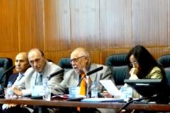 El Prof. Dr. Dr. h.c. mult. Muñoz Conde modera la 1ª mesa del I Congreso.