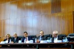 Apertura del I Congreso Internacional de la FICP. De izq. a dcha., los Profs. Dres. Corcoy Bidasolo, de Vicente Remesal, Vázquez Albert, Luzón Pela y Queralt