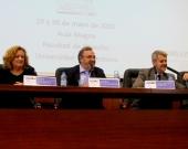 Imagen de la Clausura del I Congreso: de izq. a dcha., los Profs. Dres. Corcoy Bidasolo, Luzón Peña y Gómez Martín