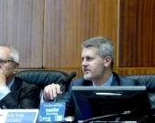 Los Profs. Dres. Queralt y Gómez Martín durante la apertura del I Congreso