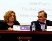 Los Profs. Dres. Corcoy Bidasolo y Luzón Peña durante la Clausura del I Congreso
