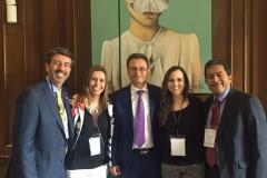 De izq. a dcha., los Profs. Dres. Basilico, Vallejo Jiménez, Forero Ramírez, la Prof. Escobar Vélez y el Prof. Dr. Sotomayor Acosta.