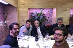 18-12-18 cena León 22 en Ezequiel. Ed. Viana_ Rubén_ Jes Gzlz Boado_ Alaor Leite_ Ign. Rafols
