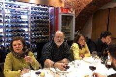 18-12-18 cena León 36 en Ezequiel. Loli Fdz_ Ign Benítz_ MªJos Cruz Bl_ JuanC Cantillo