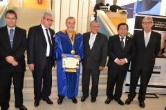 2016-10-13 UIGV 23 Drhc DirGral AcadMagistratura, decano Der, DL, rector e.f., profs Palomino y de Vicente