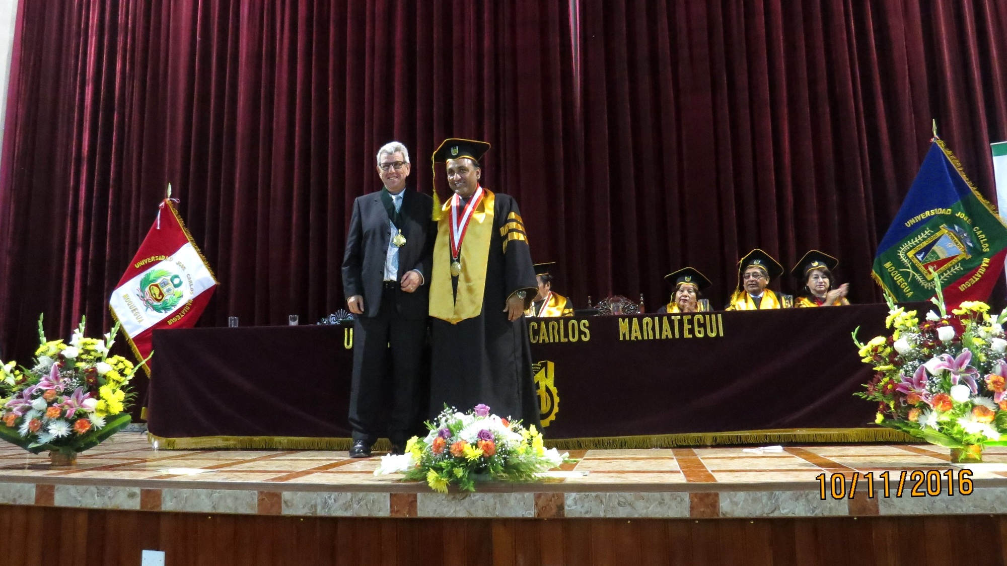 11-10-2016. Un momento de la investidura del Prof. Dr. Dr. h.c. de Vicente Remesal como Prof. Honorario