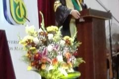 11-10-2016. El Prof. Dr. Dr. h.c. mult. Luzón Peña durante la impartición de su Lectio Doctoralis