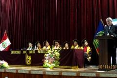 11-10-2016. El Prof. Dr. Dr. h.c. de Vicente Remesal imparte su conferencia tras su nombramiento