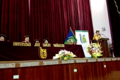 11-10-2016. Laudatio a cargo del Prof. Dr. Ayar Chaparro Guerra, Vicerrector Académico