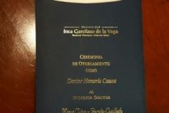Imagen del programa de la ceremonia