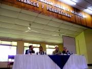 23. Congreso homenaje al Prof. Luzón por su Doctorado honoris causa en la Universidad Centroamericana (UCA) de Nicaragua, Managua, 15-17 noviembre de 2004: de izquierda a derecha, Profs. Díaz y García Conlledo, Mir Puig, Luzón Peña, patronos, y González Cussac, socio FICP.