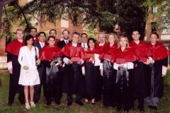 17. Claustro del rectorado de la Univ. Alcalá: El Prof. Schünemann con la escuela del Prof. Mir.