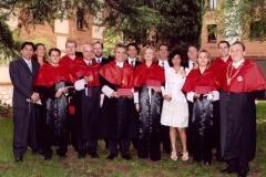 18. Claustro del rectorado de la Univ. Alcalá: El Prof. Luzón con la escuela del Prof. Mir.
