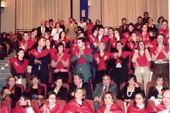 71. Investidura del Prof. Luzón como Prof. Honorario de la Facultad de Derecho de Orense, Univ. Vigo, 20 enero 2006. Público asistente al acto; sentados en las dos primeras filas miembros de la escuela del Prof. Luzón e invitados.