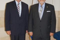 8-7-2016. El Prof. Dr. Dr. h.c. mult. Luzón Peña junto al Excmo. Sr. Dr. Marvin Aguilar.