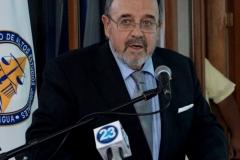8-7-2016. El Prof. Dr. Dr. h.c. mult. Luzón Peña durante su conferencia para magistrados de la Corte Suprema de Justicia de Nicaragua (CSJ), organizada por el Instituto de Altos Estudios Judiciales, Poder Judicial de Nicaragua. Managua, Nicaragua