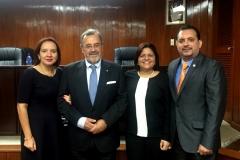 7-7-2016. Entre otros, los Profs. Dres. Moreno Castillo, Luzón Peña y Aráuz Ulloa. Facultad de Derecho, Univ. Centroamericana de Nicaragua (UCA)