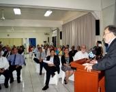 8-7-2016. El Prof. Dr. Dr. h.c. mult. Luzón Peña durante su ponencia en la CSJ
