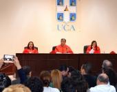 15-7-2016. Imagen del tribunal de tesis, compuesto por los Profs. Dres. Julio Andrés Sampedro Arrubla, M.ª Trapero Barreales y M.ª Asunción Moreno Castillo