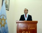 31-08-2016. El Prof. Dr. Dr. h.c. mult. Díaz y García Conlledo durante su conferencia su nombramiento como Miembro Honorífico del Colegio de Abogados de Lima.