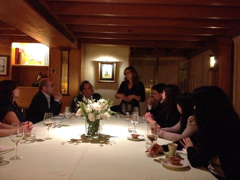 131. Discurso de la Prof. Dra. da Palma Pereira durante la cena