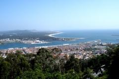 120. Viana do Castelo, 15 mayo 2010. Desembocadura del río Lima en el Atlántico, vista desde monte Santa Luzia.
