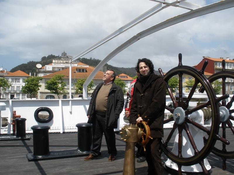 116. Viana do Castelo, 15 mayo 2010. Navío-hospital museo Gil de Eannes. Profs. Luzón, Virxilio Rodríguez Vázquez.