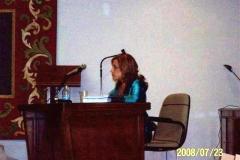 104. Univ. de León, Fac. de Derecho. 23 julio 2008. Concurso a plaza de Prof. Contratado Doctor, adjudicada a la Prof. Dra. Isabel Durán Seco. La candidata Prof. Durán Seco.