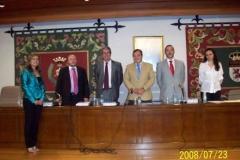108. Univ. de León, Fac. de Derecho. 23 julio 2008. Concurso a plaza de Prof. Contratado Doctor, adjudicada a la Prof. Dra. Isabel Durán Seco. El tribunal y la nueva Prof. Contratada Doctora.