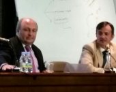 Los Profs. Paredes Castañón y Demetrio Crespo
