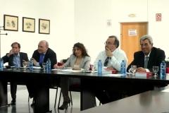 De izq. a dcha., los Profs. Dres. Portilla Contreras, Paredes Castañón (ponente), Roso Cañadillas (moderadora), Luzón Peña y de Vicente Remesal