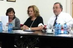 De izq. a dcha., los Profs. Dres. Olaizola Nogales (ponente), Corcoy Bidasolo (moderadora) y Luzón Peña.