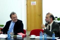 Los Profs. Dres. Luzón Peña (izq.) y Díaz y García Conlledo (dcha.).