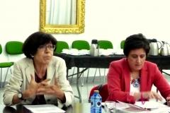 La Prof. Dra. Barber Burusco (izq.) durante su ponencia, actuando de moderadora la Prof. Dra. García Mosquera (dcha.)