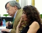 La Prof. Dra. Roso Cañadillas y el Prof. Dr. Jorge Barreiro.